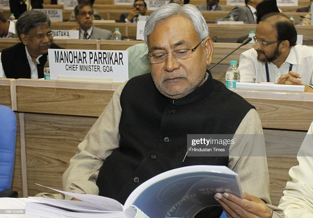 Bihar Chief Minister Nitish Kumar at the 57th National Development Council (NDC) meeting on December 27, 2012 in New Delhi, India.