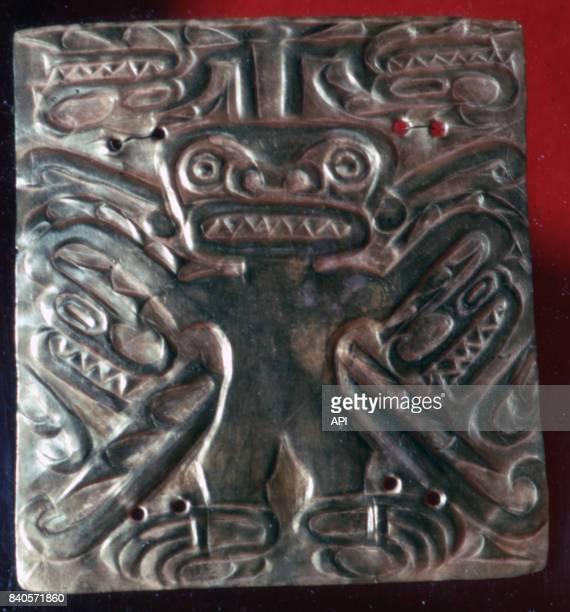 Bijou pectoral précolombien de la zone de Gran Coclé vers 1500 av JC Panama