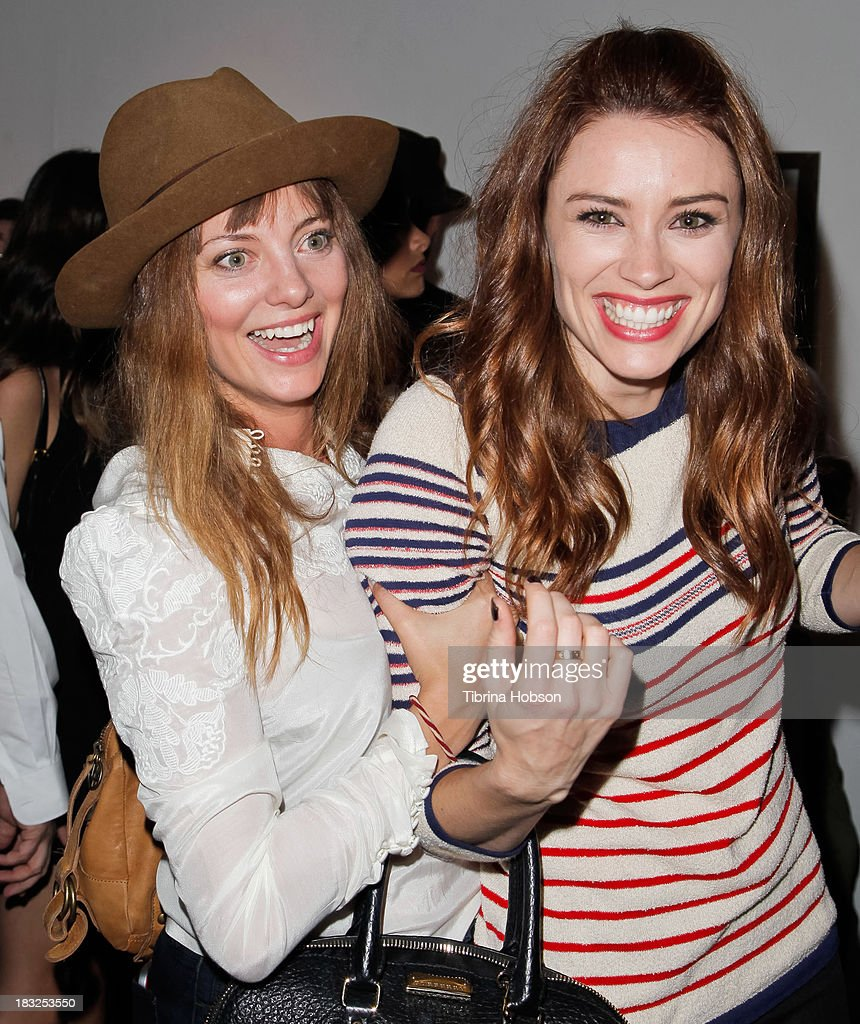 <a gi-track='captionPersonalityLinkClicked' href=/galleries/search?phrase=Bijou+Phillips&family=editorial&specificpeople=204454 ng-click='$event.stopPropagation()'>Bijou Phillips</a> and Arielle Vandenberg attend the Mercedes Helnwein 'The Trouble With Dreams' gallery reception at Merry Karnowsky Gallery on October 5, 2013 in Los Angeles, California.