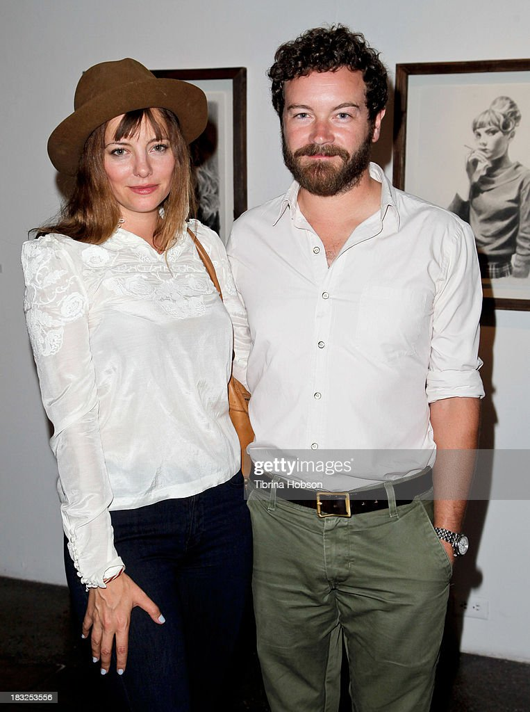 <a gi-track='captionPersonalityLinkClicked' href=/galleries/search?phrase=Bijou+Phillips&family=editorial&specificpeople=204454 ng-click='$event.stopPropagation()'>Bijou Phillips</a> and <a gi-track='captionPersonalityLinkClicked' href=/galleries/search?phrase=Danny+Masterson&family=editorial&specificpeople=239512 ng-click='$event.stopPropagation()'>Danny Masterson</a> attend the Mercedes Helnwein 'The Trouble With Dreams' gallery reception at Merry Karnowsky Gallery on October 5, 2013 in Los Angeles, California.