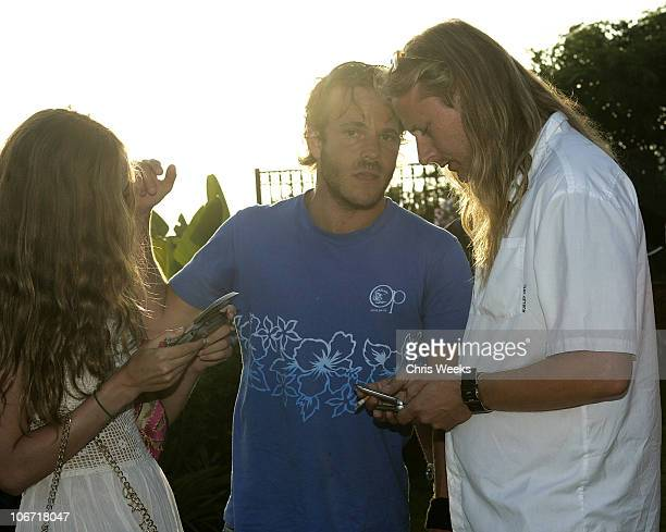 Bijou Phillips Stephen Dorff and Jerry Cantrell during No Ten by Tanqueray hosts Angela Lindvall's Pool Party Benefitting The Collage Foundation at...