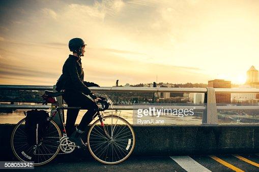 Bicicletta pendolare in Portland Oregon