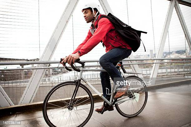 Bike Commuter in the city.