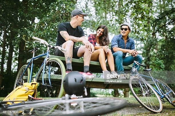 Bike Commuters in Portland Oregon