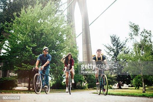 Bicicletta pendolari a Portland Oregon