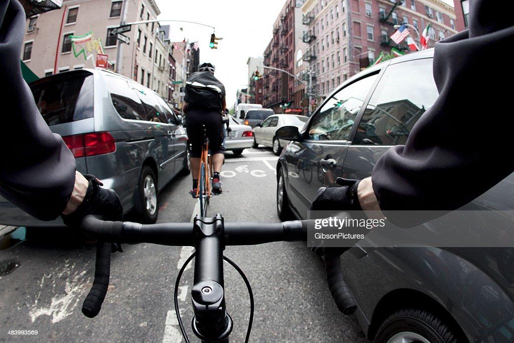 Coursier à vélo à New York : Photo