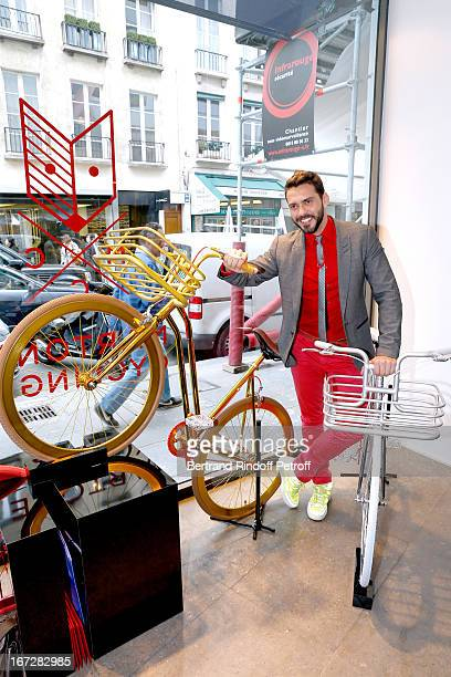 Bike Designer Lorenzo Martone Presents His Brand Martone Cycling Co At Colette Shop on April 23 2013 in Paris France