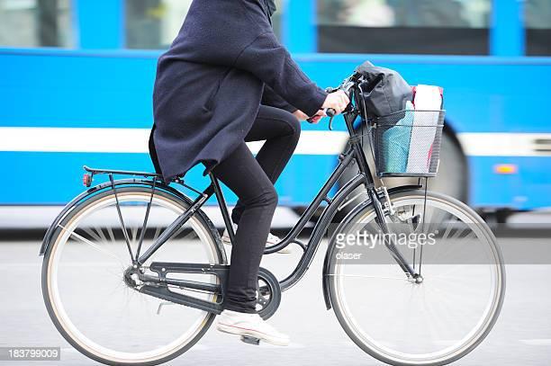 自転車でモーションブラーの