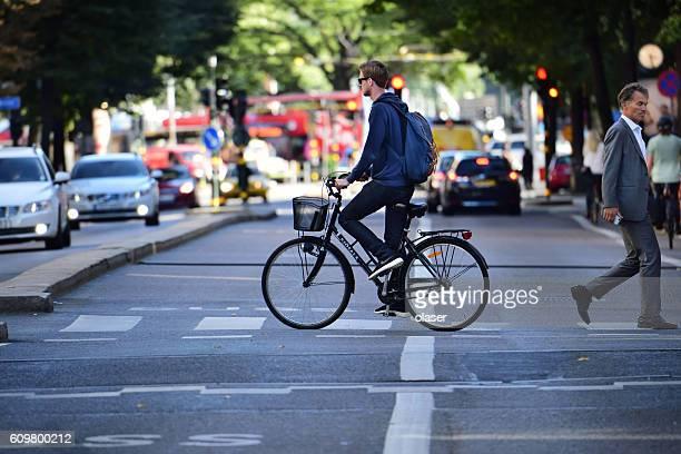 Fahrrad in Bewegung