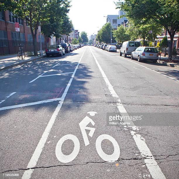 Bike lane in Brooklyn, NY