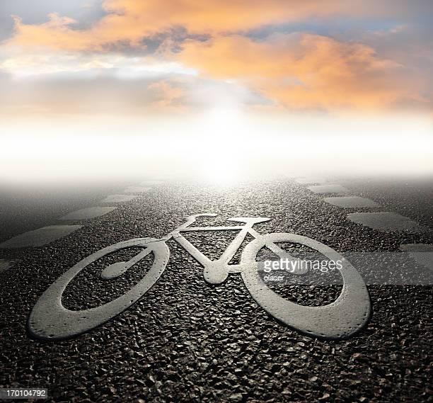 Fahrrad lane am Abend