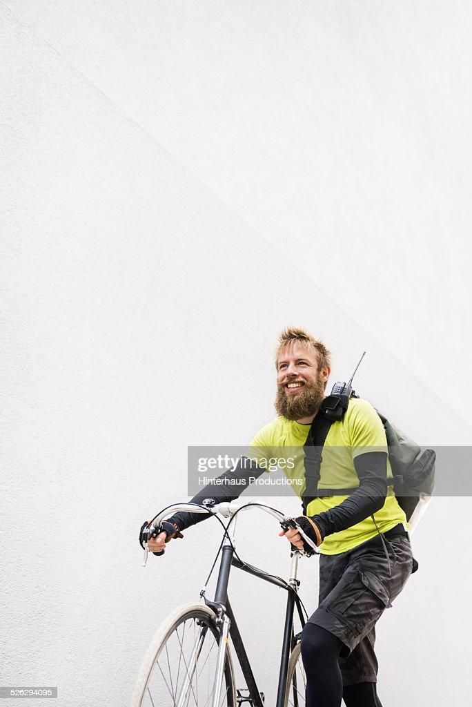 Bike Messenger Portrait : Photo