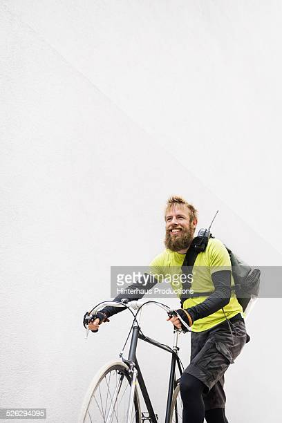 Bike Messenger Portrait