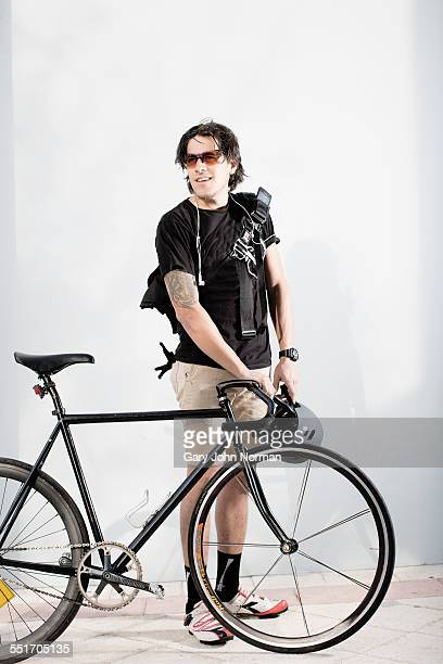 Bike messenger with bike