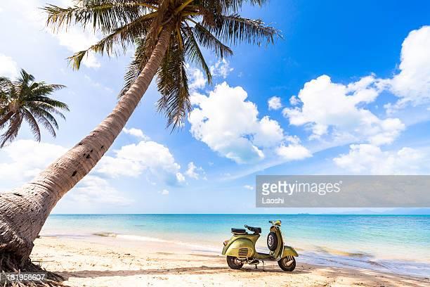 Fahrrad fahren am Strand