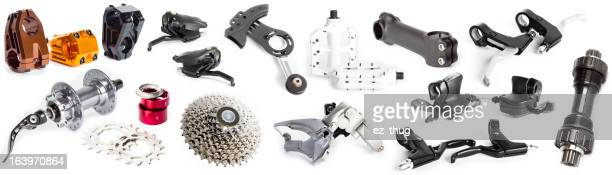 Bike parts collage