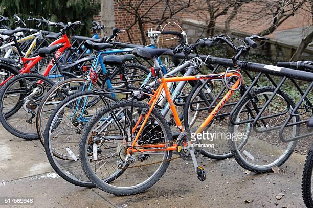 自転車用ラックのユニヴァーシティーパークキャンパス