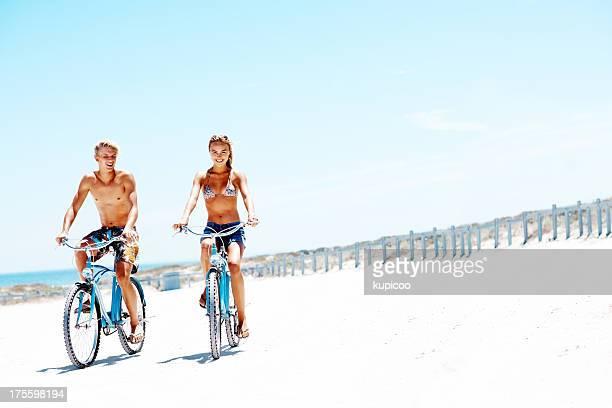 Bike ride through sunshine