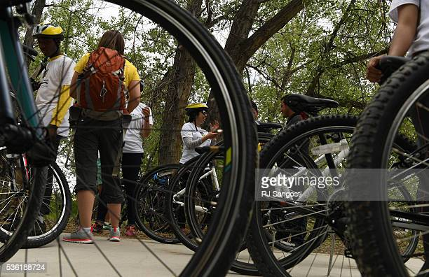 Bike riders gather to launch an outreach and planning initiative called Adventure on the Canal Charting our Course for the Next Century May 31 2016...