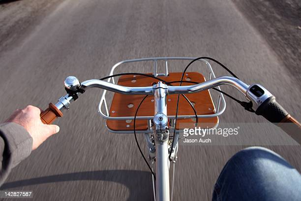Bike rides with front basket