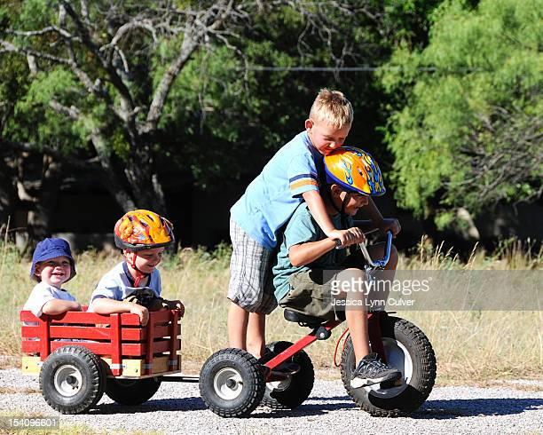 Bike Wagon Full of Brothers
