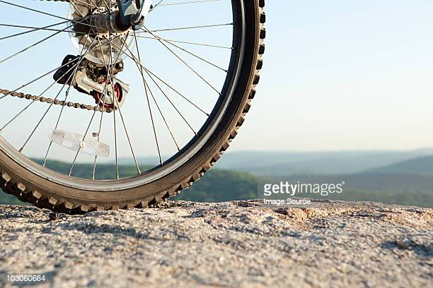 Bike wheel, close up