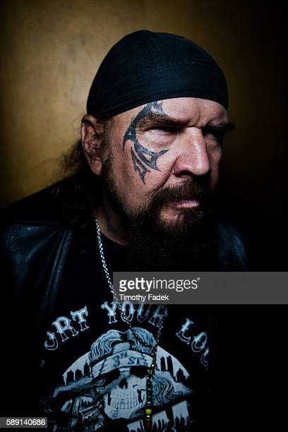 'Biker' Billy Walker displays his tattoos at the 12th Annual New York City Tattoo Convention at Roseland Ballroom in Manhattan