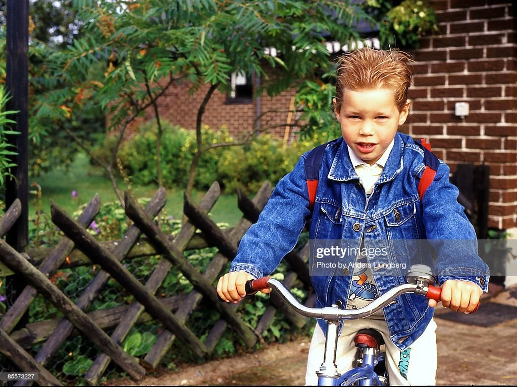 Biker Boy : Stock Photo