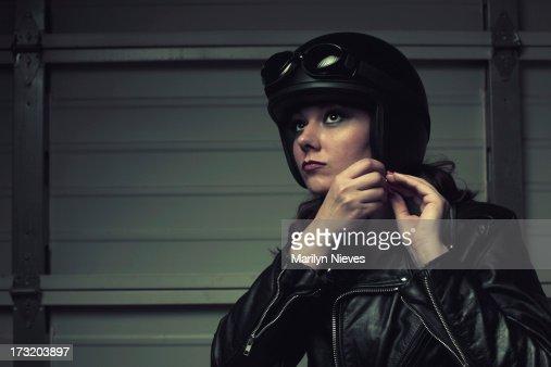 biker gearing up