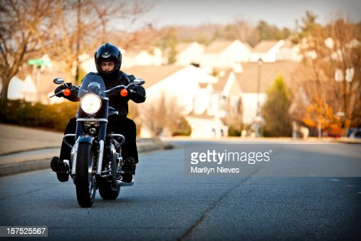 biker out for a ride