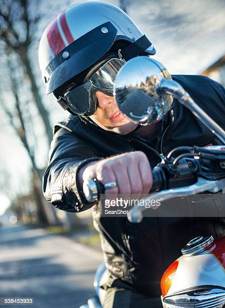 Biker RIding a Motorcycle