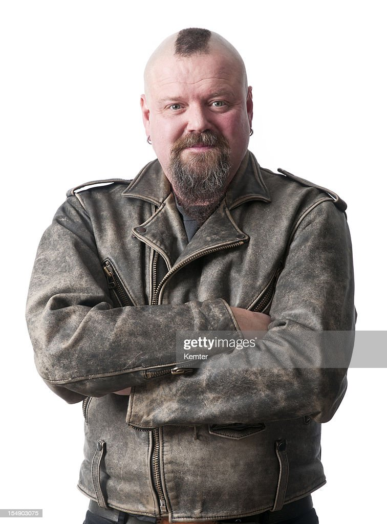 biker with arms crossed