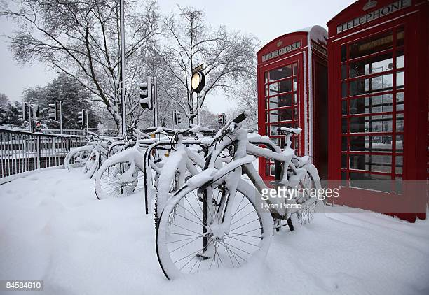 Bikes are covered in snow outide Queensway Tube Station on February 2 2009 in London EnglandThe United Kingdom has suffered its heaviest snowfall...