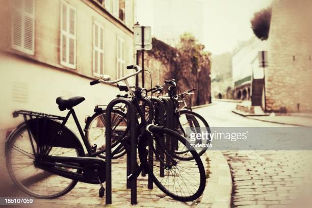 """Vélos dans les rues de Paris """", Vintage"""