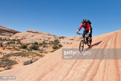 Biking along the lines, Utah