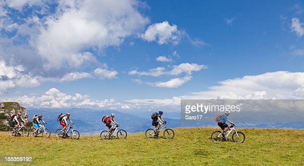 Biking along the ridge, South Tyrol