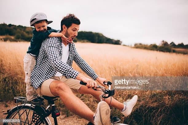 Biking with my dad