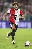Bilal Basacikoglu of Feyenoord during the preseason friendly match between Feyenoord and Valencia on July 23 2016 at the Kuip in Rotterdam The...