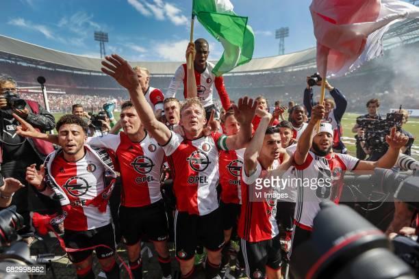 Bilal Basacikoglu of Feyenoord Steven Berghuis of Feyenoord Lucas Woudenberg of Feyenoord Wessel Dammers of Feyenoord Dirk Kuyt of Feyenoord Terence...