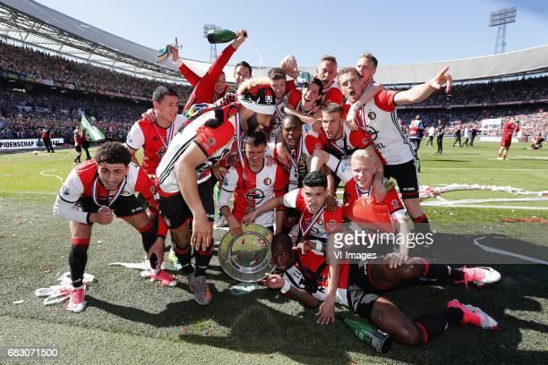 Bilal Basacikoglu of Feyenoord Tonny Vilhena of Feyenoord Steven Berghuis of Feyenoord Miguel Nelom of Feyenoord JanArie van der Heijden of Feyenoord...
