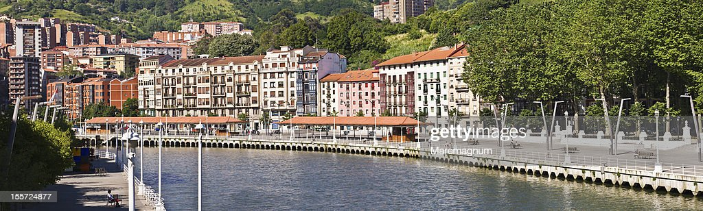 Bilbao river and the riverside : Stock Photo