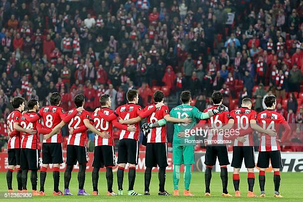 Bilbao's team Inigo Lekue Mikel Balenziaga Ander Iturraspe Raul Garcia Aritz Aduriz Aymeric Laporte Mikel San Jose Iago Herrerin Xabier Etxeita Oscar...