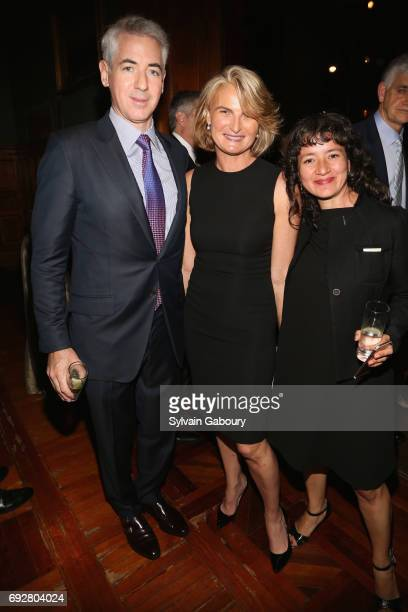 Bill Ackman Olivia Flatto and Anamaria Archila attend The Pershing Square Foundation 10th Anniversary Celebration at Park Avenue Armory on June 5...