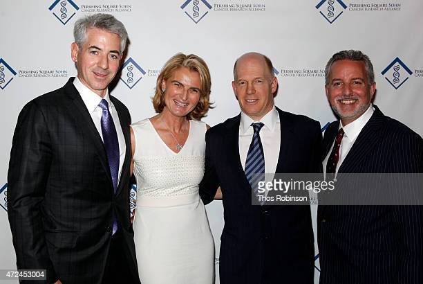 Bill Ackman Olivia Flatto Doug Hirsch and Evan Sohn attend 2015 Pershing Square Sohn Prize Award Dinner at Park Avenue Armory on May 7 2015 in New...