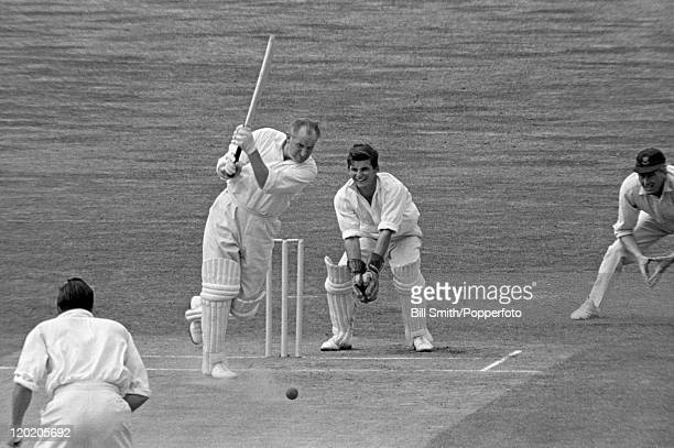 Bill Alley batting for Somerset against Sussex at Hove circa 1965