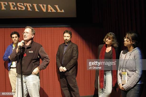 Bill Ayers director/producer/coeditor Sam Green Bernardine Dohrn director/producer Bill Siegel and producer Carrie Lozano