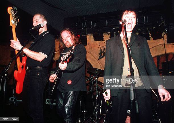 Bill Bailey and Kevin Eldon performing on stage at the Borderline London United Kingdom 1996