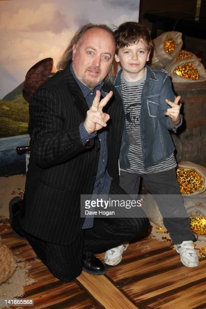 Bill Bailey and son Dax Bailey attend 'The Pirates In An Adventure With Scientists' UK premiere at The Mayfair Hotel on March 21 2012 in London...