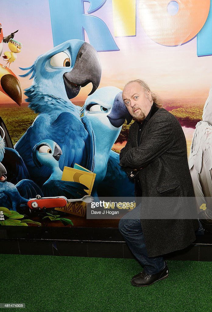 <a gi-track='captionPersonalityLinkClicked' href=/galleries/search?phrase=Bill+Bailey&family=editorial&specificpeople=810511 ng-click='$event.stopPropagation()'>Bill Bailey</a> attends the UK Gala screening of 'Rio 2' at Vue West End on March 30, 2014 in London, England.
