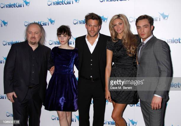 Bill Bailey Felicity Jones Ken Duken Tamsin Egerton and Ed Westwick attend the World premiere of 'Chalet Girl' held at the Vue Westfield on February...